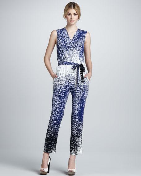 Diane von Furstenberg Kawena Dot-Print Jumpsuit