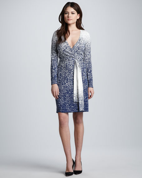 Linda Tie-Waist Printed Wrap Dress
