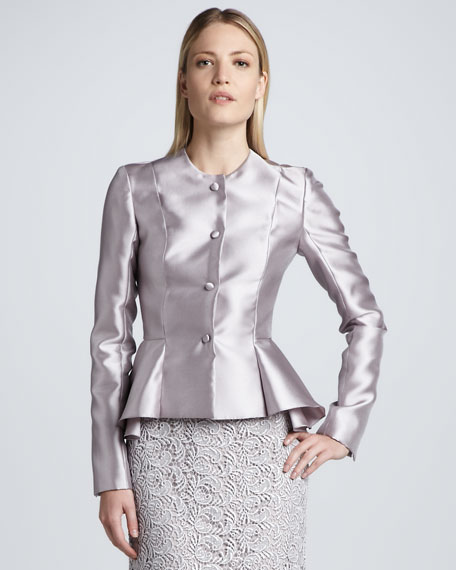 Satin Peplum Jacket