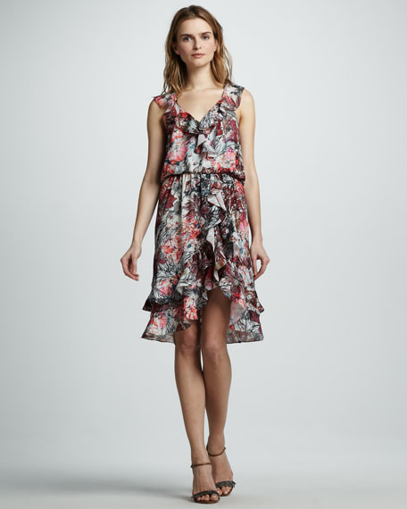 Narula Ruffle-Hem Dress