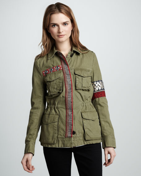 Denham Embroidered Cargo Jacket