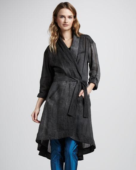 Evona Silk Trenchcoat