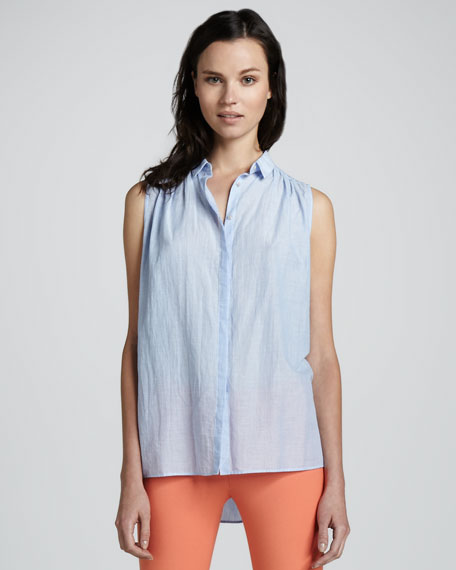Kasidy Sleeveless Chambray Top