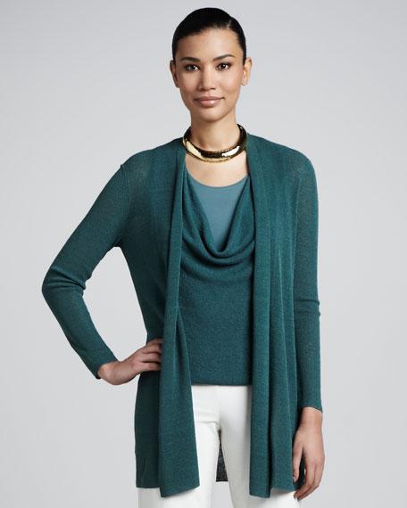 Polished Linen Cardigan