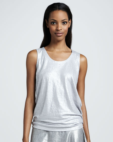 Shimmer Sleeveless Shell