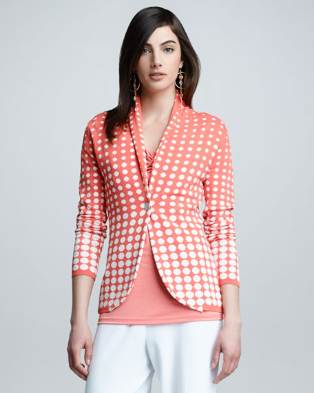 Dotted Shawl Collar Jacket