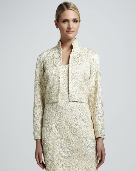 Beaded Long-Sleeve Bolero