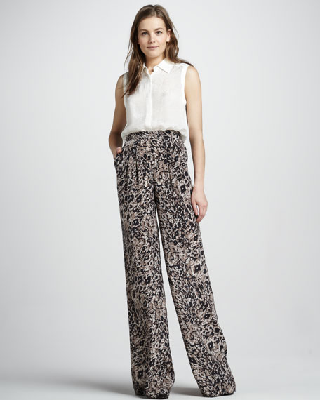 Greta Animal-Print Pants