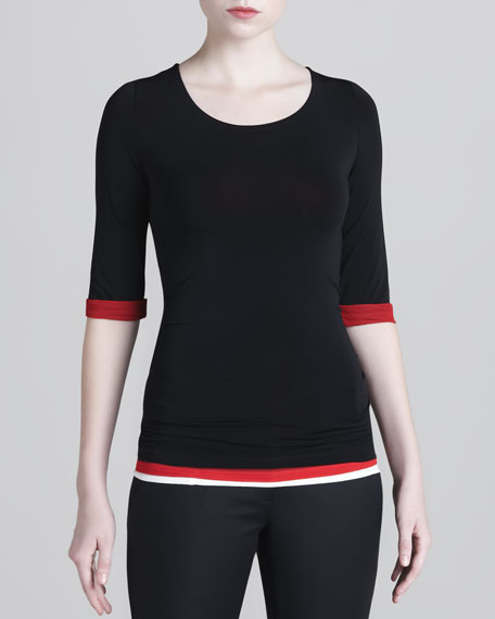 Layered Jersey Top