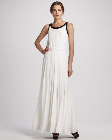 Braden Pleated Two-Tone Gown