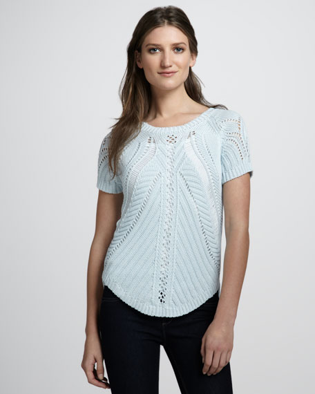 Reversible Open-Stitch Top