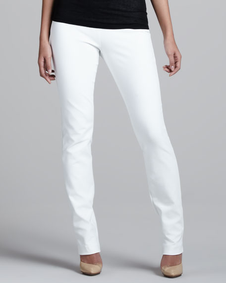 Side-Zip Slim Pants