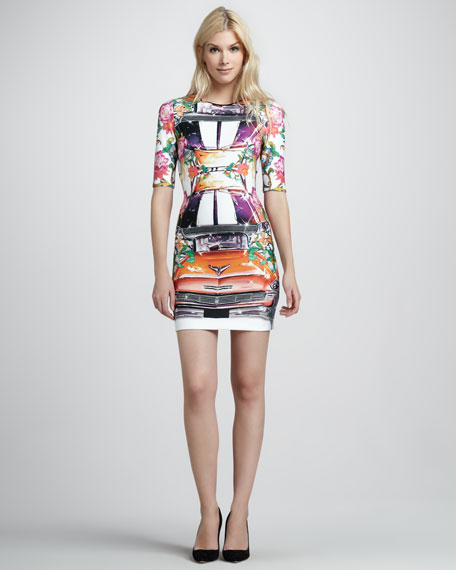 Hydraulics Printed Fitted Dress