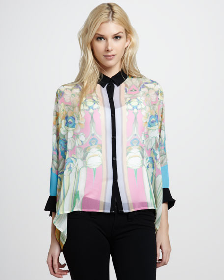 Flower Tracers Sheer Blouse