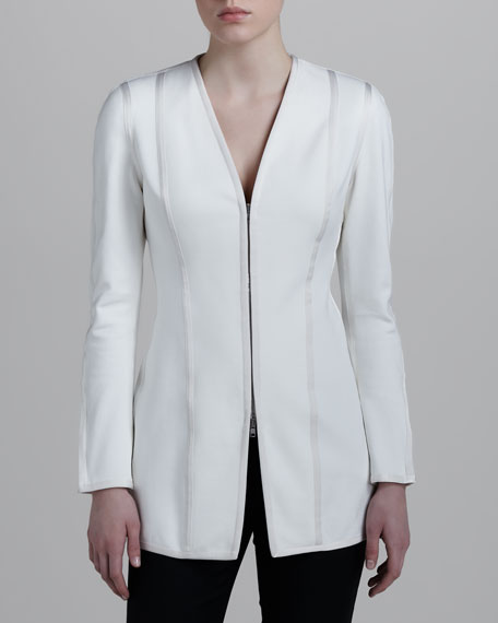 V-Neck Zip Jacket