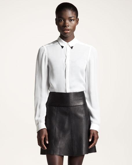 Esme Lightweight Leather Skirt