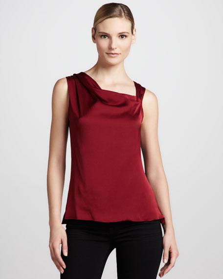 Amanda Asymmetric Silk Blouse