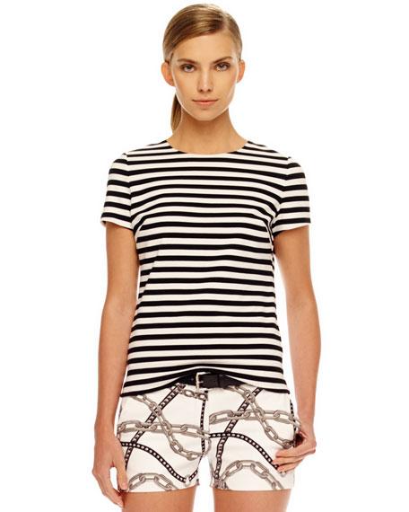 Striped Back-Zip Shirt