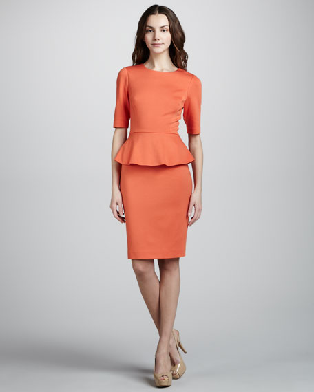 Trophie Peplum Dress, Bellini