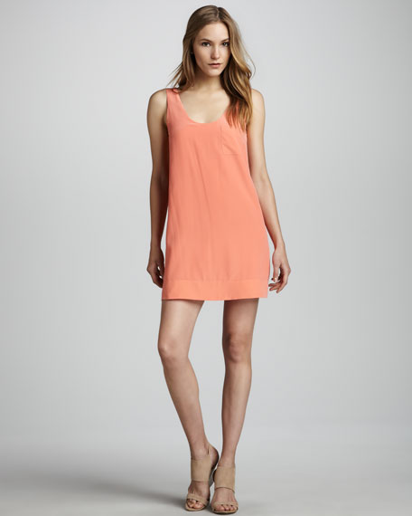 Dawna Sleeveless Silk Dress