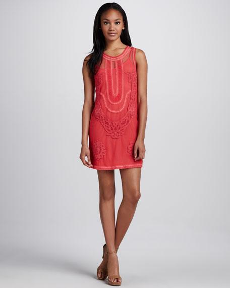 Elle Sheer-Overlay Dress