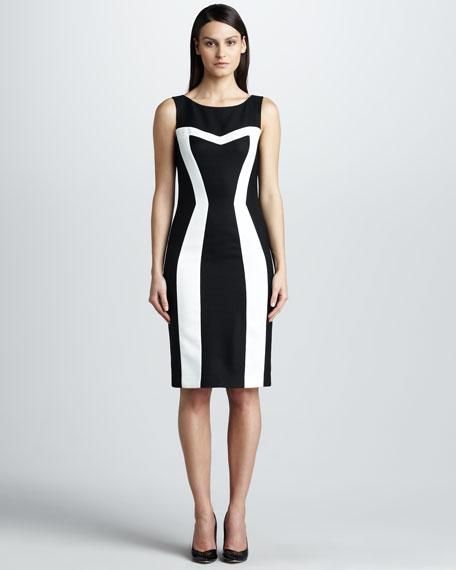 Contrast Pique Dress