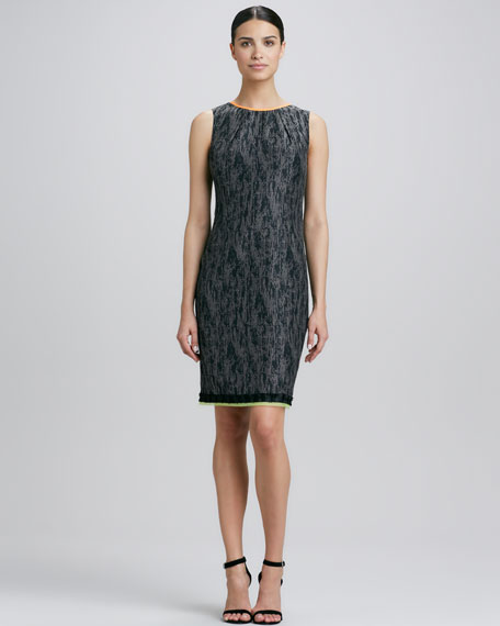 Marina Jacquard Sheath Dress