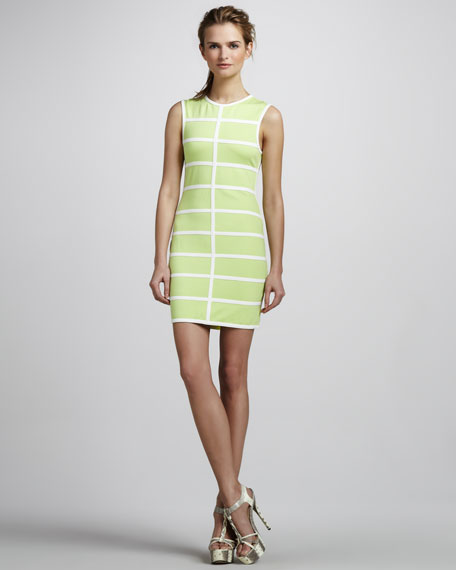 Love Neon Grid Piped Dress
