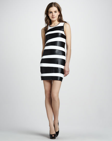 Toro Faux-Leather Banded Dress