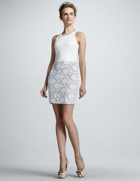 Madrid Faux Leather/Lace Dress
