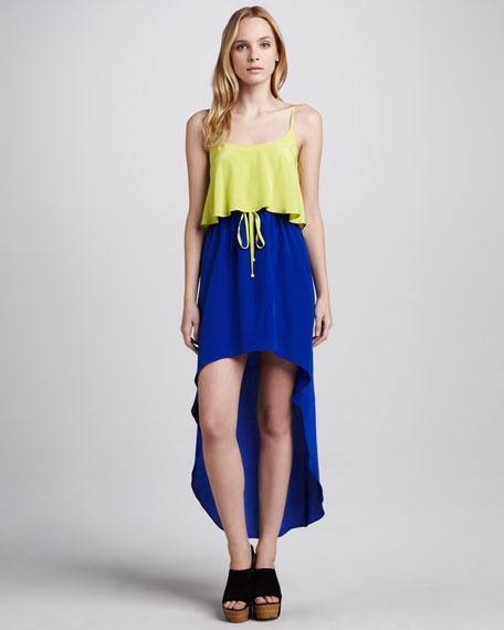 Carrie Colorblock Hi-Lo Dress