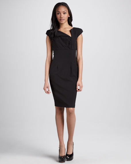 Serena Asymmetric Fitted Dress