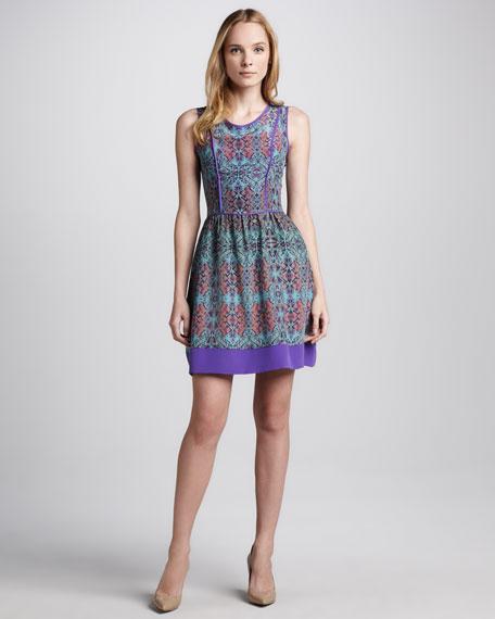 Taryn Printed Silk Dress