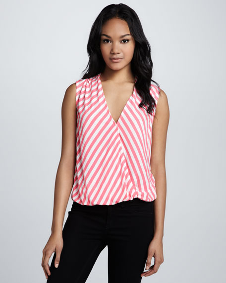 Lila Striped Blouson Top