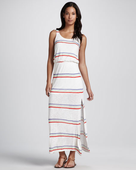 Hermosa Striped Slub Maxi Dress