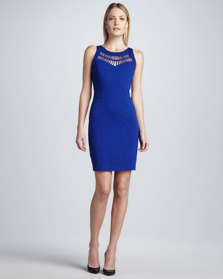 Sleeveless Cutout-Detail Sheath Dress