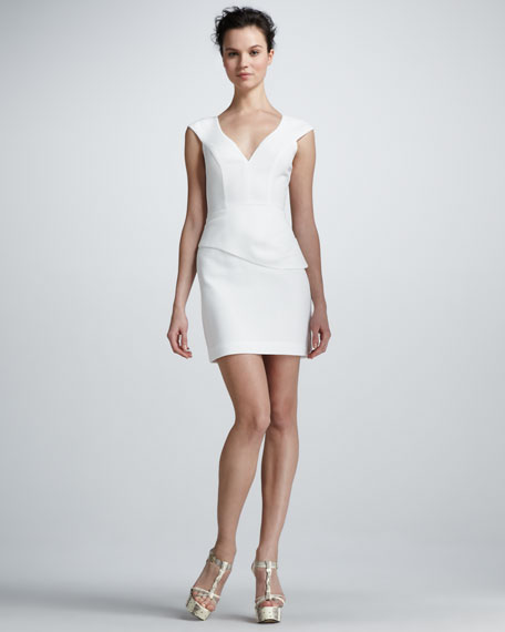 Dame Cap-Sleeve Mini Dress