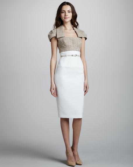 Two-Tone Tweed Combo Dress