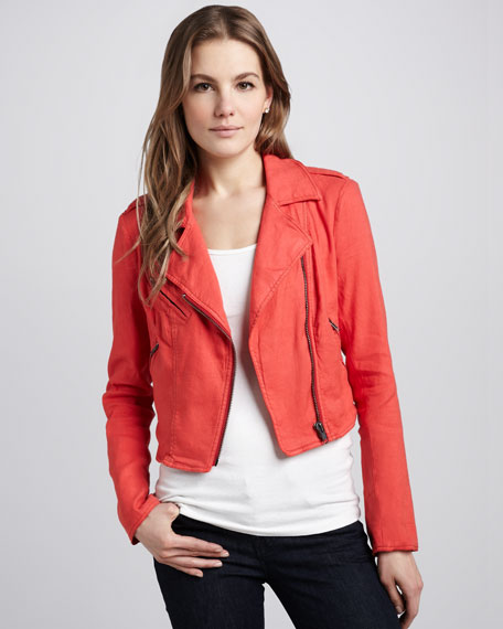 Twill Motorcycle Jacket