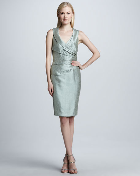 Shawl-Collar Cocktail Dress