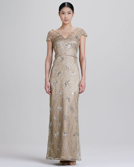 Lace and Sequined Gown
