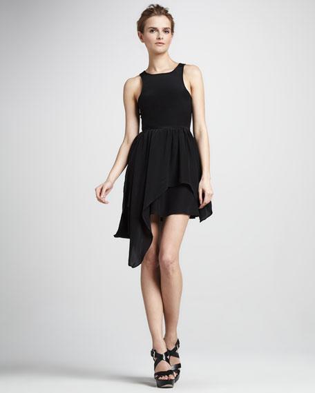 I Always Sleeveless Asymmetric Dress