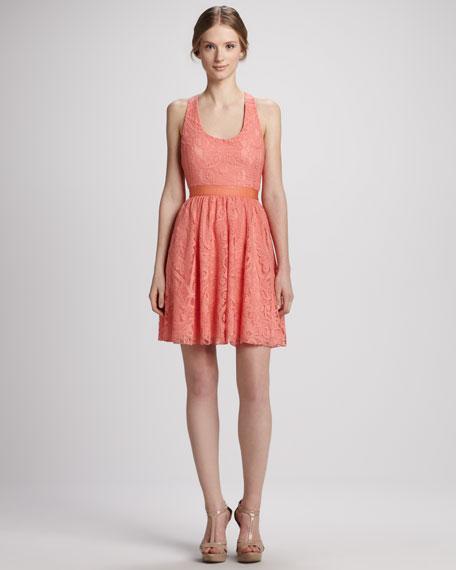 Odette Cross-Back Lace Dress
