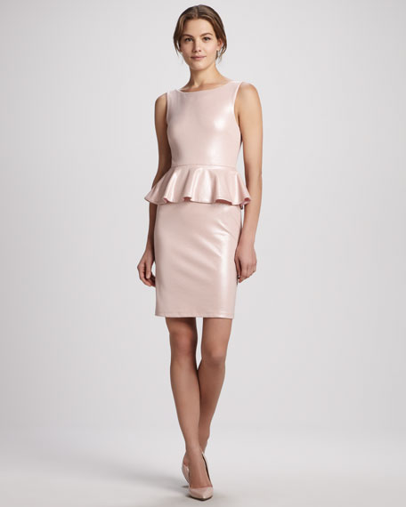 Tracey Shiny Peplum Dress