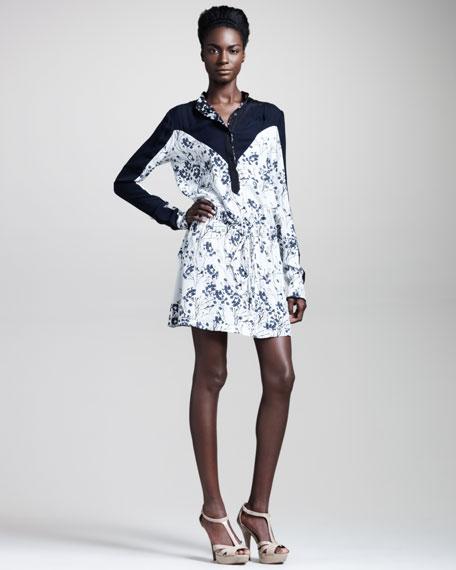 Sophia Blossom-Print Silk Dress