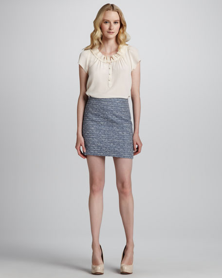 Miranda Short Tweed Pencil Skirt