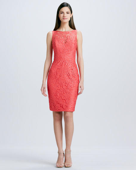 Lace Cocktail Dress with Pencil Skirt