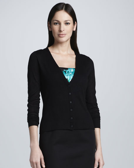 Sable Button-Front Cardigan Sweater