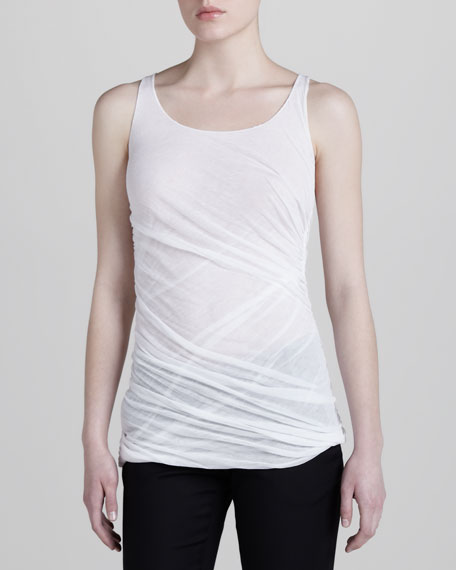 Ruched Double-Layer Tank