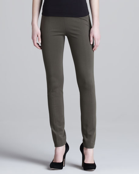 Seamed Skinny Pants, Militaire